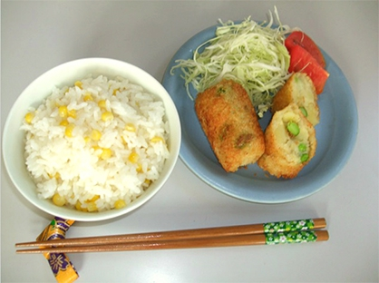 とうきびご飯(4人分)
