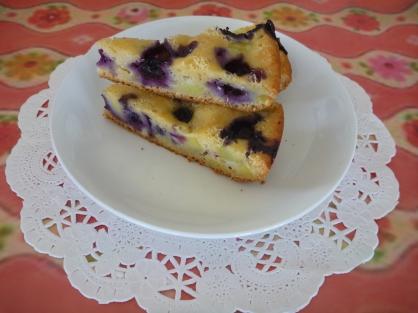 炊飯器でつくるサツマイモとブルーベリーのケーキ