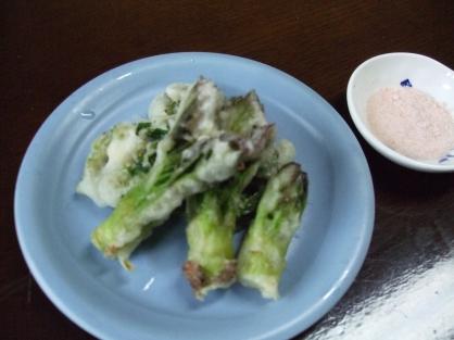たらの芽とこごみの天ぷら(2人分)