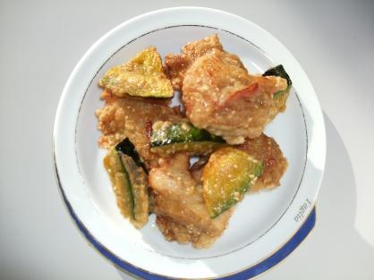 鶏とかぼちゃのごま唐揚げ(4人分)